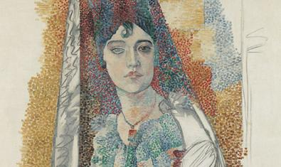 'Woman in a mantilla', one of the works exhibited in '1917. Picasso in Barcelona'