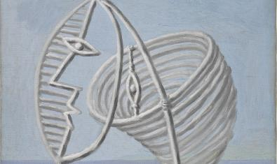 Close-up of one of the pieces from the 'Picasso poet' exhibition