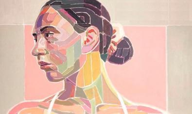 Una de las obras del artista muestra un busto de mujer