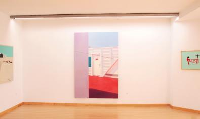 Una imatge de l'interior de la galeria d'aquest centre d'art del barri de La Pau