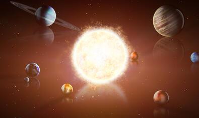 El sol, al centre de la galàxia.
