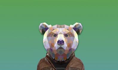 El dibuix d'un ós amb el cap tallat en arestes com si fos un diamant al cartell del festival