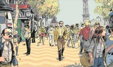 Portada del cómic basado en la novela de Vázquez Montalbán 'Tatuaje'