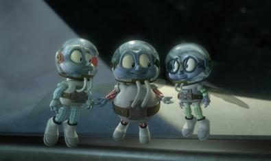 Fotograma de la película con las tres moscas