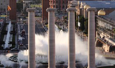 Les quatre columnes de Montjuïc, una de les obres de Puig i Cadafalch