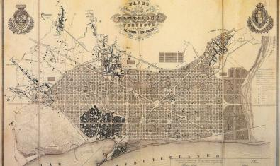 Mapa de Barcelona, s. XIX