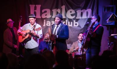 La banda en plena actuació al Harlem Jazz Club