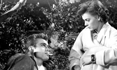 James Dean i Natalie Wood a 'Rebelde sin causa'