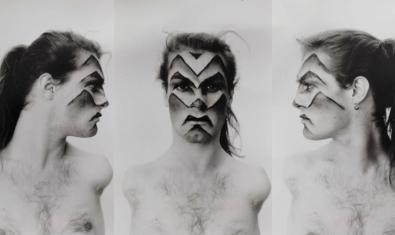 Triple retrato de la artista transexual con diversidad funcional Lorenza Böttner