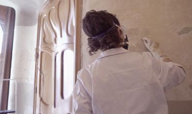 Trabajos de restauración en la Casa Batlló