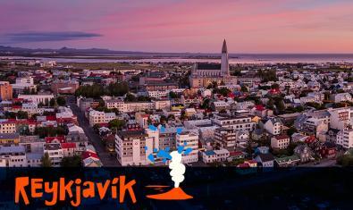Imatge general de Reykjavík, capital d'Islàndia