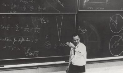 Imatge de Feynman durant una classe