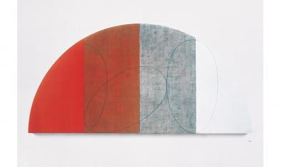 Obra de Robert Mangold presente en la exposición