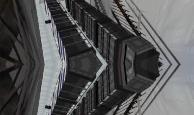 Una imagen de la instalación creada por Robert Cervera y que simula una gran central de almacenamiento de datos