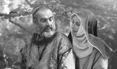 Audrey Hepburn amb Sean Connery a 'Robin y Marian'