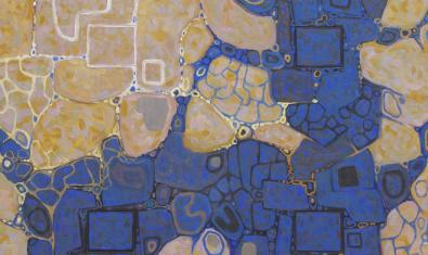 Una de las obras abstractas del artista que recuerda a la estructura de una célula