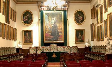 Sala Fortuny de la Reial Acadèmia Catalana de Belles Arts de Sant Jordi