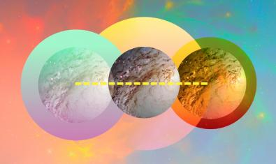 Una imatge amb un fons d'estels i tres planetes en primer terme serveix de cartell per aquesta edició del festival