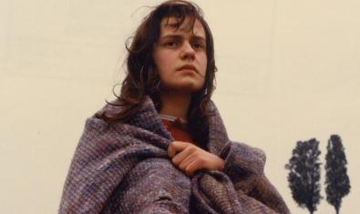 Retrato de la actriz protagonista vestida como una vagabunda
