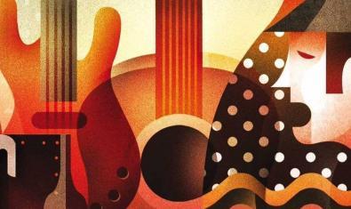 Un cartell d'inspiració cubista que mostra un cantaor i una guitarra serveix per anunciar les sessions