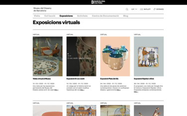 Virtual exhibitions on the Museu del Disseny's website