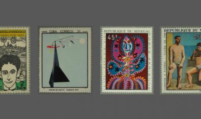 Alguns dels segells de la Col·lecció Filatèlica de Pintura