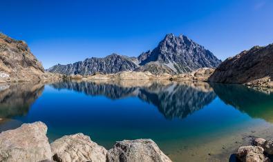 Imatge d'un estany d'alta muntanya