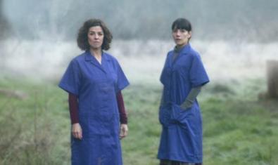 Les dues actrius d''El silenci dels telers'