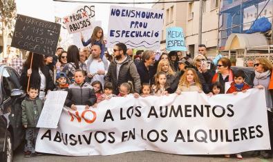 Protesta por el derecho a la vivienda