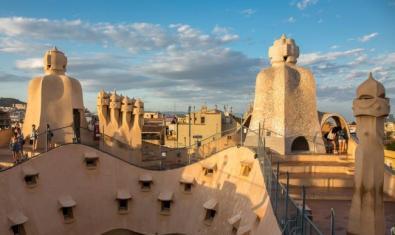 Fotografia del terrat de La Pedrera