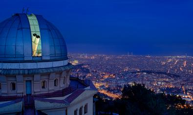 The Fabra Observatory at night