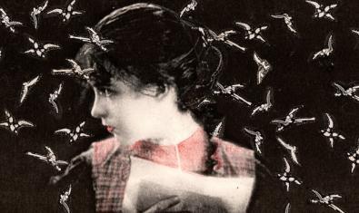 Una de les imatges creades per la cineasta a partir de collages cinematogràfics realitzats amb fotografies d'estrelles de cinema mut