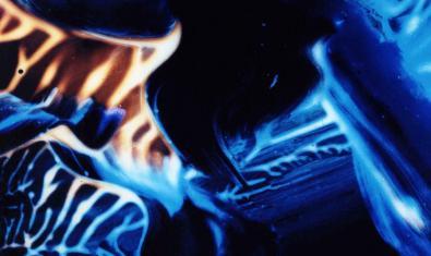 Una de les imatges abstractes en tons blaus de la fotògrafa Anna Luk
