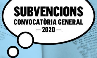 Subvencions: convocatòria general ICUB 2020