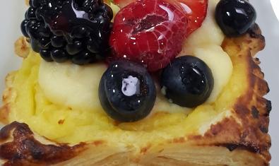 Uno de los pastelitos que se pueden hacer con hojaldre.