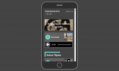 The audio guides of the Antoni Tàpies Foundation allow you to navigate the current exhibitions