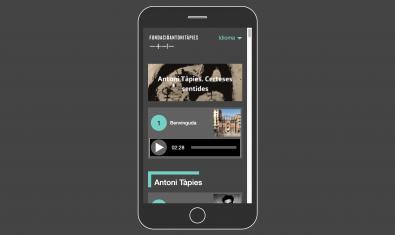 Las audioguías de la Fundación Antoni Tàpies os permiten navegar por las exposiciones en curso
