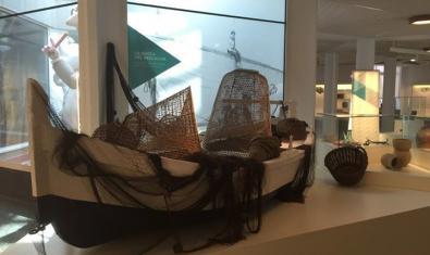 Barca de pescadors exposada al museu