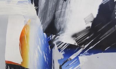 Una de las obras abstractas fruto de la colaboración entre ambos artistas