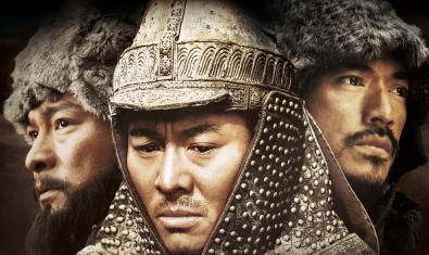 Imagen de primer plano de tres guerreros de la antigua China que aparecen en uno de los films programados