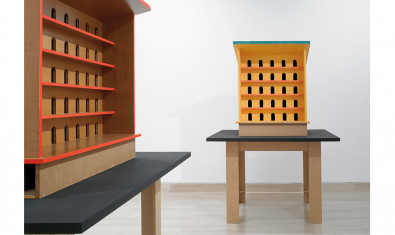 Obra de Thomas Schütte titulada 'Para los pájaros'', presente en la exposición