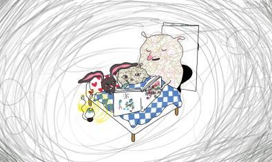 Les imatges de 'Qui juga?' recorden el traç dels dibuixos infantils.