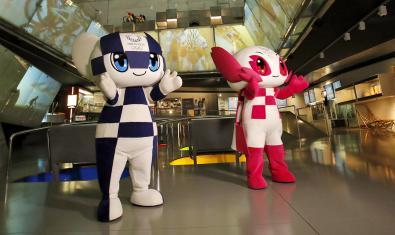 Las mascotas de los Juegos están en Barcelona.