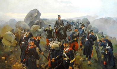 'Toma del fuerte del collado de Alpuente', Josep Cusachs