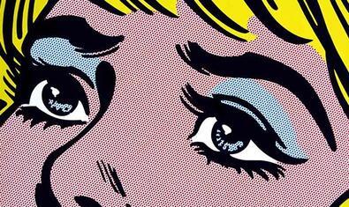 Detall de l'obra 'Sad Eyes', de Toni Sánchez