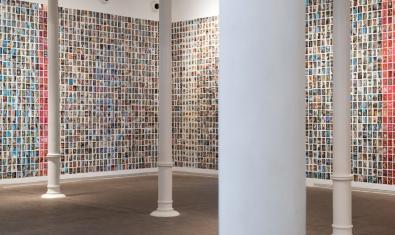 Fotografia de l'exposició de l'Oriol Vilanova a la Fundació Tàpies
