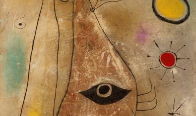 Detall d'una obra de Miró.