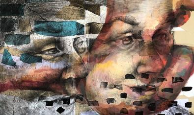 Una de les obres de Vanja Bicok exposades a la galeria H2O