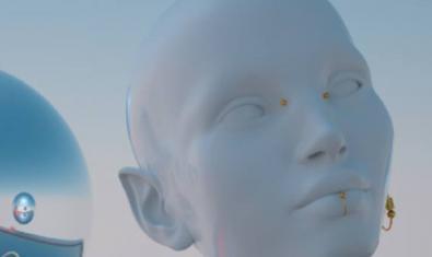 Una de les obres que formen part de l'exposició mostra la imatge d'una dona creada en realitat virtual