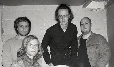 Fotografia en blanc i negre que mostra els quatre membres de la formació nord-americana